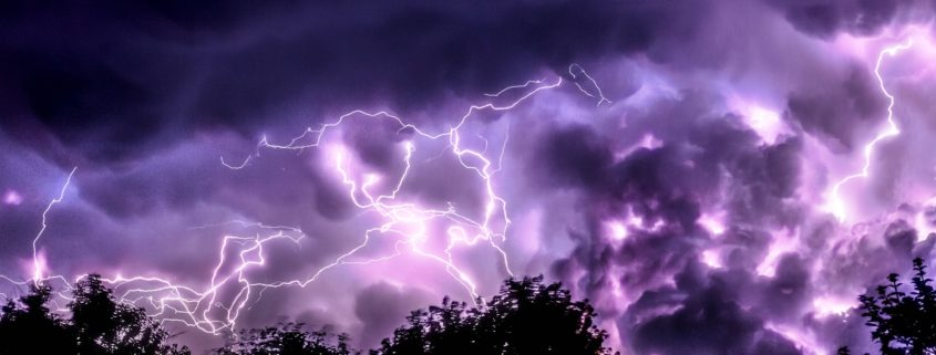 250.000 Blitze von Freitag bis Sonntag
