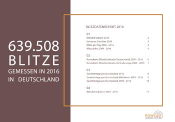 Ubimet Blitzdatenreport Deutschland 2016 - 639.508 BLITZE GEMESSEN IN 2016 IN DEUTSCHLAND