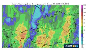 Ubimet Wetter Niederschlag Regen Radar Niederschlagsmenge