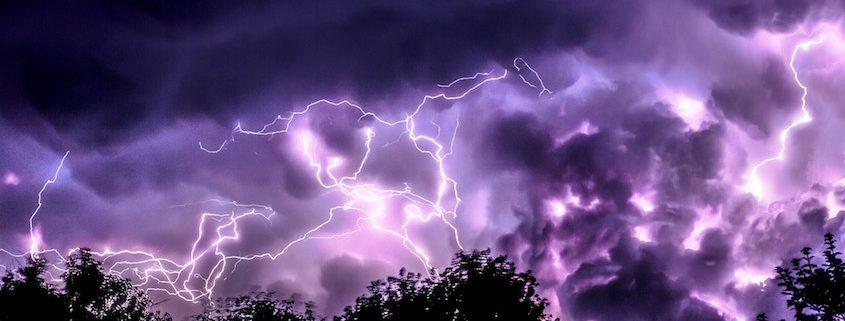 Schwere Unwetter zum Sommerende knapp 50000 Blitze