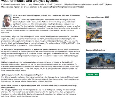 Nigeria mining week interview