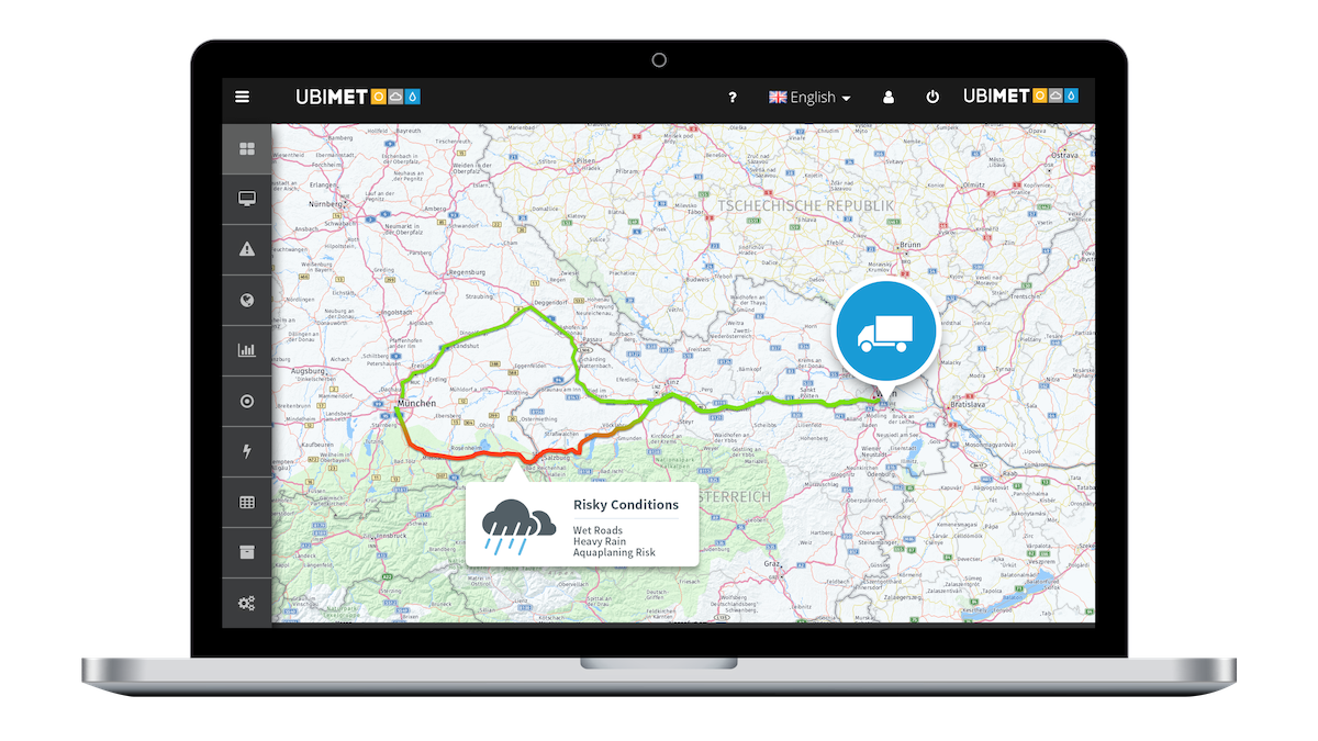 UBIMET Dynamic Vehicle Routing Weather