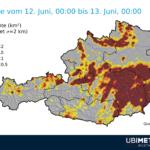 Blitzdichte Österreich Dienstag