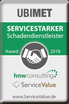 UBIMET insurance service quality award 2018