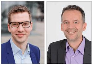 UBIMET Geschäftsführer Alexander Lehmann und Dr Constantin Junk