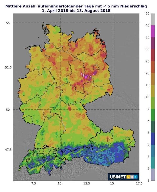Mittlere-Anzahl-aufeinanderfolgender-Tage-mit-5mm-Niederschlag-April-August-2018-DE-AT-CH