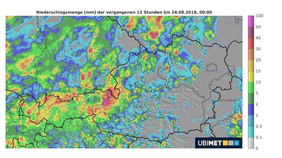 UBIMET_12-Stunden_Niederschlagsmenge_Donnerstag