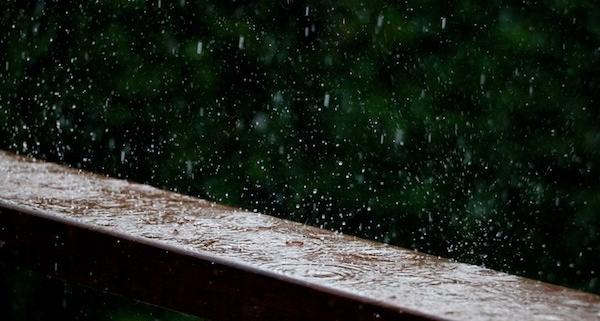 Am Wochenende anhaltender Starkregen im Süden