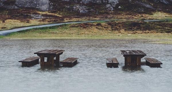 Tief VAIA sorgt für Hochwasser und Sturm