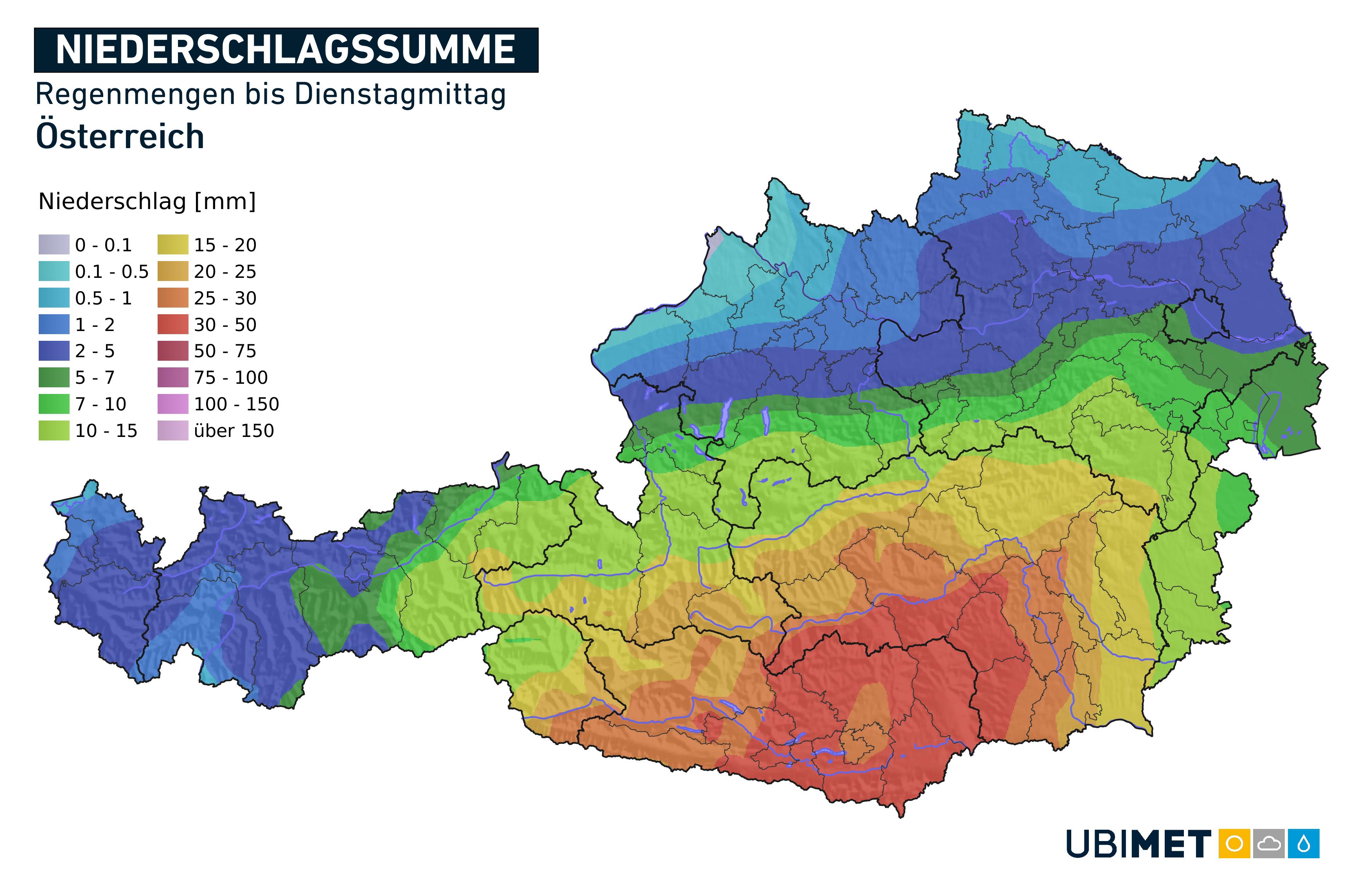 Zu Wochenbeginn unterbricht ein kräftige Kaltfront das Sommerwetter