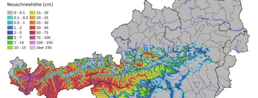 Kaltlufteinbruch bringt in den Nordalpen Schnee bis 1000 m