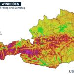 UBIMET Windspitzen Föhnsturm