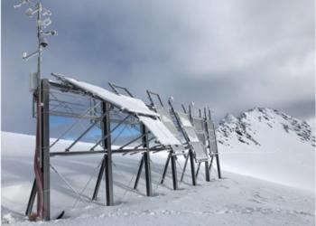Redispatch 2.0 Anlage mit Schnee