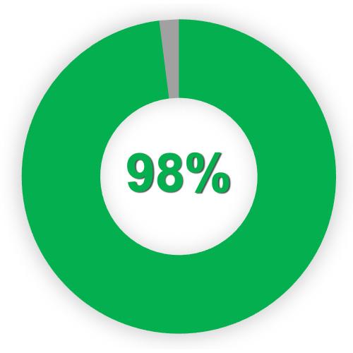 Kundenzufriedenheit: 98%